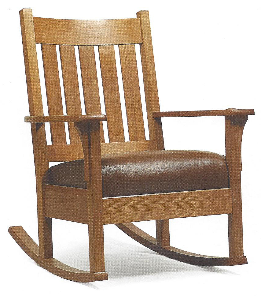 chicago-school-woodworking-classes-Craftsman Style Rocking Chair